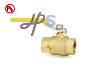 Meet NSF Certificate Lead Free Brass NPT Thread Ball Valve with Drain Hole pictures & photos