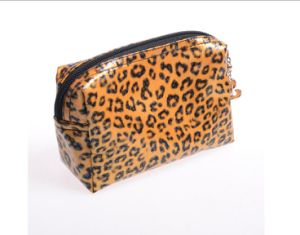2016 Wholesale Leopard Design PVC Cosmetic Bag for Ladies pictures & photos