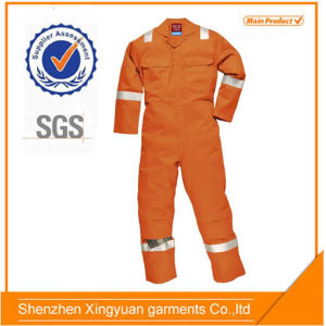 100% Cotton Reflective Coverall/Flame-Retardant Working Uniform