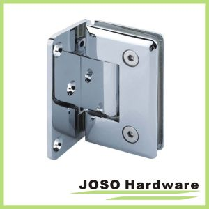 90 Degree Glass to Wall Brass Offset Back Plate Hinge pictures & photos