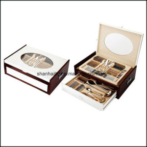 72PCS 84PCS Cutlery Set with Wood Case pictures & photos