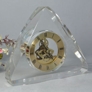Crystal Table Clock Desk Clock for Office Set (KS60416) pictures & photos