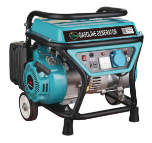 3.0HP 1kw Portable Gasoline Generator with Small Wheels pictures & photos