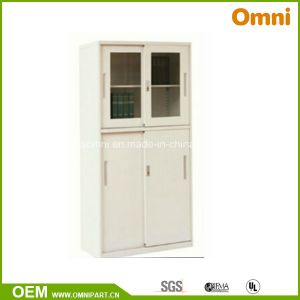 Office Commercial Furniture Glass Door Metal Filing Storage Cabinet (OMNI-XT-09) pictures & photos