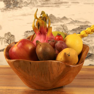 Top Selling Handmade Durable Natural Fruit Wooden Bowl pictures & photos