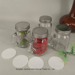 120ml Cute Christmas Decoration Mason Jar with Handle Glass Bottle pictures & photos