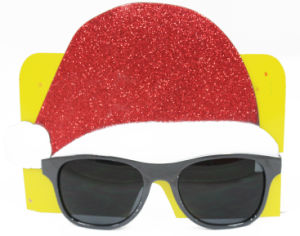 Xmas Glasses with Santa Hat