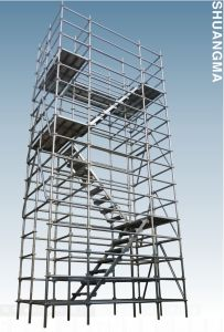 HDG Painted Steel Ringlock Scaffolding, Factory in Guangzhou pictures & photos