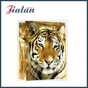 Glossy Laminated Coated Paper Shopping Gift Bag with Tiger Printed pictures & photos