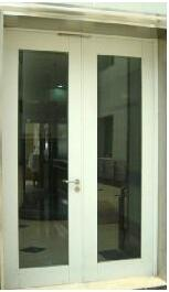 Glass Fire Door with Steel Frame