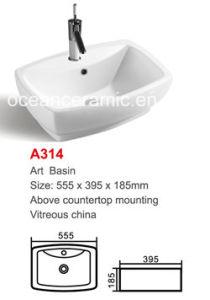 Rectangular Ceramic Wash Basin (No. A314) pictures & photos