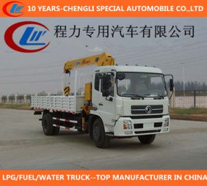 Truck with Telescopic Straight Boom Crane for Sale pictures & photos