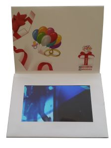 7inch TFT LCD Screen Video Greeting Card with USB pictures & photos