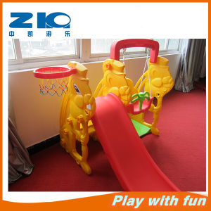 Colorful Plastic Indoor Play Kids′ Plastic Slide and Swing Colorful Baby Swing pictures & photos