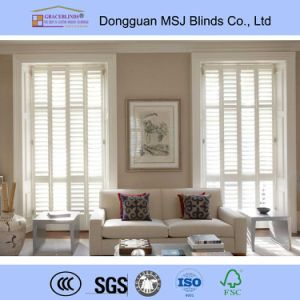 Wood Blind and Shutter Factory All Wood Shutter pictures & photos
