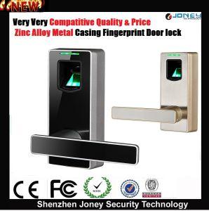 Zinc Alloy Metal Biometric Fingerprint Scanner Door Lock for Home, Office, Apartment pictures & photos
