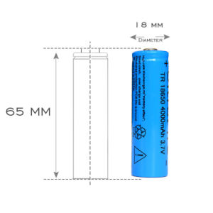 Tr 18650 4000 mAh 3.7V Rechargeable Battery 18650 Lithium Li-ion Battery for LED Flashlight pictures & photos
