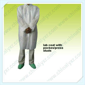 Ly Non-Woven SMS Lab Coat pictures & photos