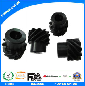 Polyacetal POM Plastic Injection Spiral Gear for Industry Machinery pictures & photos
