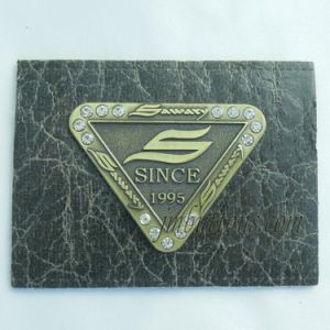 Denim Accessories Brand Logo Jeans Metal Leather Labels Tags PU Patch Factory pictures & photos