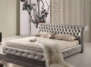 A029 French Design Wooden Bedroom Bed pictures & photos