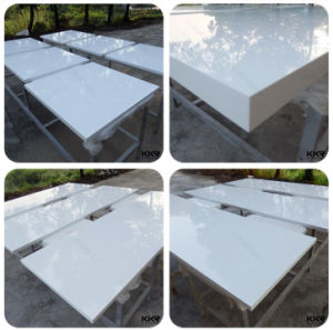 High Glossy White Prefab Quartz Stone Countertop