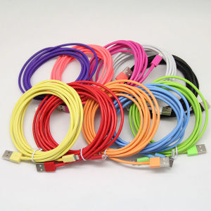 Factory Supply Colorful 2m/3m/5m Od 3.4 Thick USB Cable for iPhone 6/5 pictures & photos