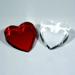 Heart Shaped Crystal Souvenir, Crystal Heart Paperweight (KS11001) pictures & photos