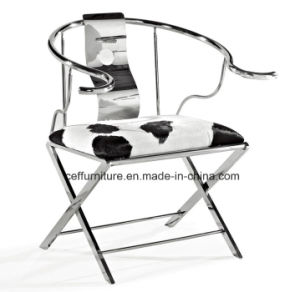 Stainless Steel Chinese Fauteuil Mandarin Official Hat Palace Chair