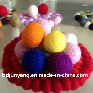 Wool Felt Ball Coaster Place Mat pictures & photos