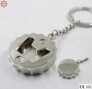 Zinc Alloy Silver Caps Opener Keychain (XYmxl112401) pictures & photos