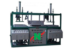 Double/Two Position Semi-Auto Plastic Blister Vacuum Thermo Forming Machine pictures & photos
