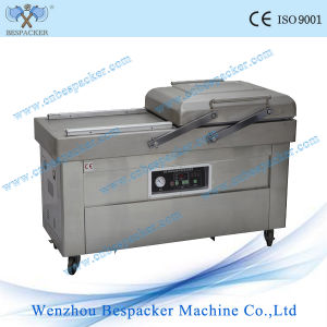 Double Chamber Nitrogen Gas Flushing Food Vacuum Packing Machine pictures & photos