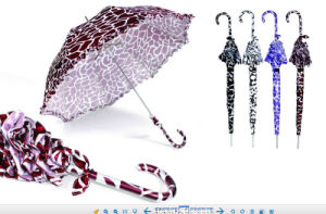 Sraight Automatic Water Ripple Design Umbrella (YS-SA23083924R) pictures & photos