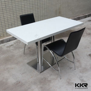 China quartz stone top dining table and chair for for Quartz top dining table