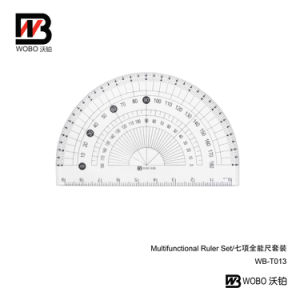 Multifunctional Office Stationery Plastic Ruler Set pictures & photos