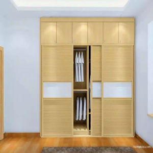 Customised Modern Wood Grain Style Melamine Wardrobe Furniture pictures & photos