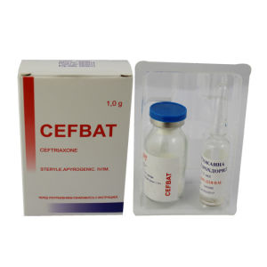 Packing with Russia Language, Ceftriaxone Sodium for Injection with Bp pictures & photos