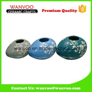 Handmade Egg Sharp Ceramic Flower Vase pictures & photos