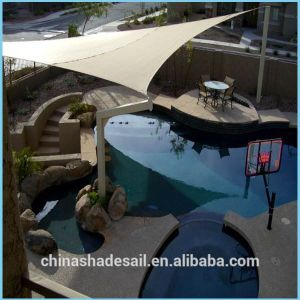 Sand Color Waterproof Polyester Sun Shade Sail for Swimming Shading (Manufacturer)