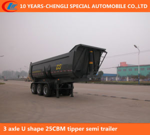 3 Axle U Shape 25cbm Tipper Semi Trailer pictures & photos