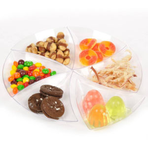 Plastic Disk Disposable Saucer Triangle Dish pictures & photos