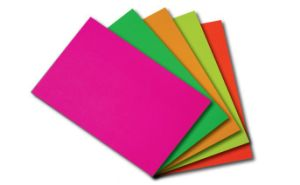 Self Adhesive Fluorescent Paper Sheet or Roll