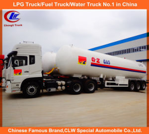 Heavy Duty 3 Axles LPG Gas Tanker Semi Trailer 25mt for Sale pictures & photos