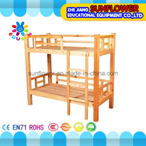 Children Double Layer Wooden Beds for Kindergarten Furniture pictures & photos