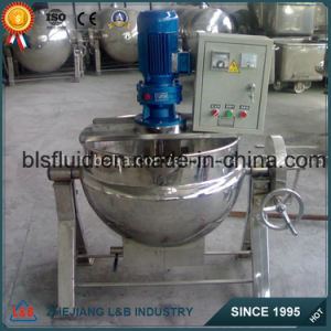 Vertical/Tilting Nature Gas Heating Jacketed Kettle with Mixer pictures & photos