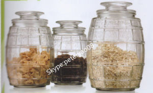 Large Capacity Glass Storage Jar with Glass Lid pictures & photos