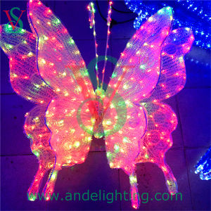 3D LED Colourful Butterfly Christmas Decorative Light pictures & photos