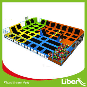 Five Different Function Area Used 16ft Mini Tent Rectangular Trampoline Park with Safety Net and Ball Game pictures & photos