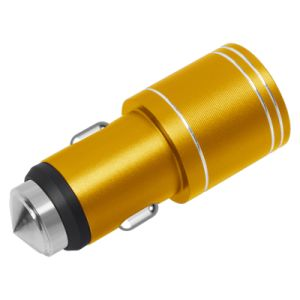 Emergency Hammer QC2.0 Fast Charging Two USB Car Charger pictures & photos